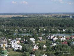 Вид на гидрокарьер с колокольни Троицко-Ильинского монастыря