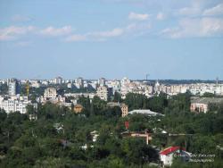 Вид на Чернигов с колокольни Троицко-Ильинского монастыря