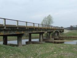 Старый мост через реку Убедь в с.Рудня