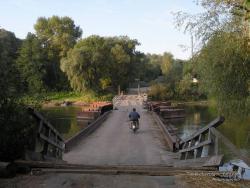 Понтонный мост через реку Десну в Новгород-Северском