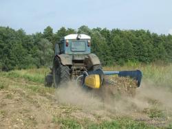Уборка картофеля трактором