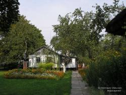 В музее А.П.Довженко - хата и сад