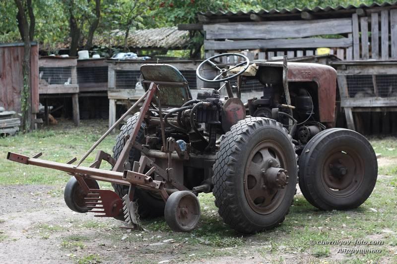 Полный привод на самодельный трактор 128