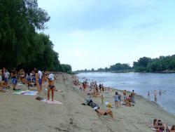 Пляж на реке Десне в Чернигове
