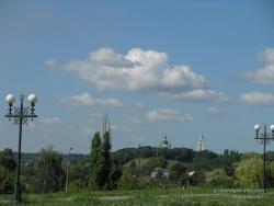 Вид на Троицко-Ильинский монастырь